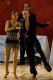 Open Latin Dance Contest, 14-15 (3). Alex Dutcovici and Ana Marin, latin dancers, 4th place at the National Dance Contest, Cupa Romaniei, 25 October 2009 Stock Image