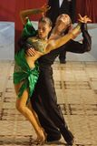 Open Latin Dance Contest, 19 - 35 (1). Couple at the Romanian National Contest (Cupa Romaniei), open latin section, 19-35 years old. 25 Oct 2009. Winners: Manole Stock Photo
