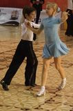 Open Latin Dance Contest, 6 - 9 years Stock Photo