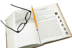 Open law book Stock Photo