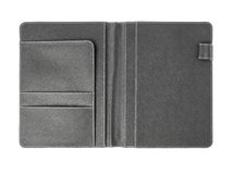 Open leather cover of binder notebook Royalty Free Stock Images
