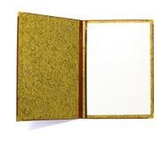 Open leather folder Stock Photo