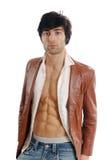 Open leather Jacket Royalty Free Stock Photo