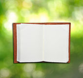 Open leather memo book Royalty Free Stock Photo