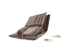 Open leather wallet Royalty Free Stock Photos