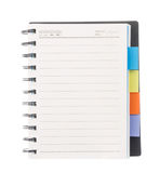 Open leeg boek dat op wit wordt geïsoleerde Stock Foto's