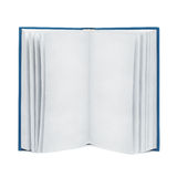 Open leeg boek op geïsoleerd wit, Royalty-vrije Stock Fotografie