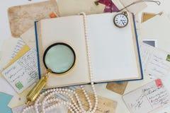 Open leeg uitstekend boek Royalty-vrije Stock Foto