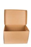 Open lege kartondoos Stock Afbeelding