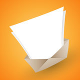 Open Letter Copyspace. Vector illustration of an open envelope with blank letter for copyspace Royalty Free Stock Photography