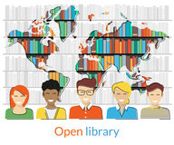 Open library Royalty Free Stock Images