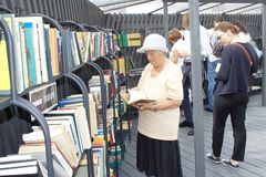 Open Library Project in New Holland Island, SPb Royalty Free Stock Images