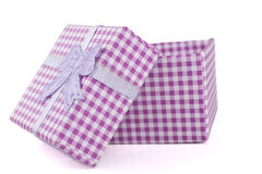 Open Lid Pink Box Stock Images