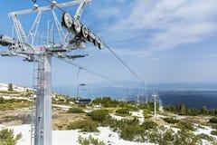 Open lift die tot de zeven rilskimeren leiden in Bulgarije, Rila-berg Royalty-vrije Stock Afbeelding