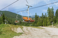 Open lift leading to Bezbog Hut in Bulgaria,Pirin mountain Royalty Free Stock Image