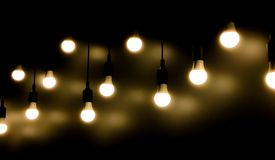 Open Light bulb royalty free stock photography