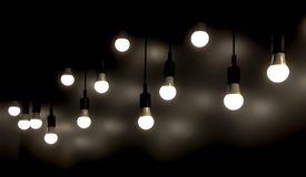 Open Light bulb royalty free stock photos