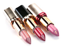 Open lipstick set Royalty Free Stock Photos