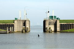Open lock gates Stock Photos