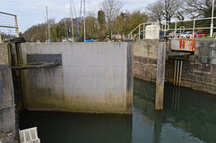 Open Lock Gates Royalty Free Stock Photography