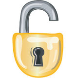 Open lock icon Stock Image