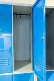 Open lockers in the room Royalty Free Stock Image