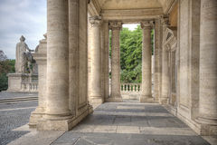 Open Loggia Palazzo Nuovo in Rome Royalty-vrije Stock Afbeelding