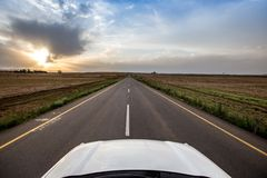 Open long road Stock Images