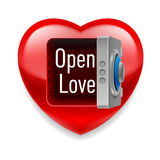 Open  Love image Stock Images