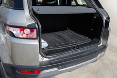Open luggage carrier of car Royalty Free Stock Image