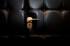 Open luxury leather door Royalty Free Stock Photography