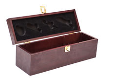 Open Luxury wooden  box Royalty Free Stock Photos