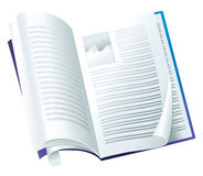 Open magazine. With folding pages Stock Images