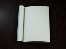 Open magazine with blank pages. 3D rendering. Stock Photos
