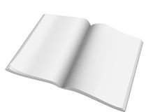 Open magazine with blank pages.Vector. Stock Photography