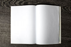 Open magazine with blank pages Royalty Free Stock Images