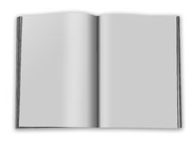 Open magazine. Double-page spread with blank pages Royalty Free Stock Images