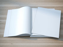 Open magazine double-page spread Royalty Free Stock Photography