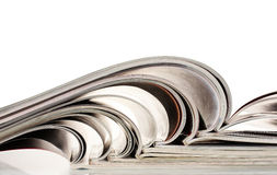 Open magazines Royalty Free Stock Photography