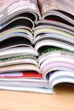 Open magazines Stock Photography