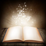 Open magic book. Clos eup Royalty Free Stock Images