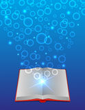 Open magic book Stock Image