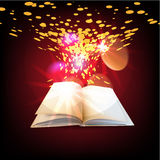 Open magic book  book Royalty Free Stock Images