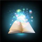 Open magic book vector book Stock Image