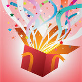 Open Magic Gift Box,vector Background Royalty Free Stock Image