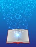 Open magisch boek Stock Afbeelding