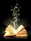 Open magisch boek Royalty-vrije Stock Foto's
