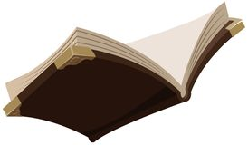 Open magisch oud boek vector illustratie