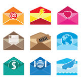 Open Mail Letter communication vector and icon Stock Photography