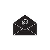 Open mail solid icon, representing email, envelope. Social media, vector graphics, a filled pattern on a white background, eps 10 Stock Photography